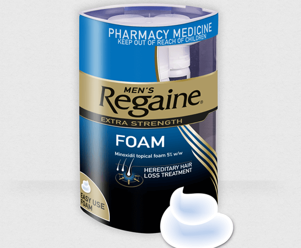 try Regaine Foam today and combat hair loss