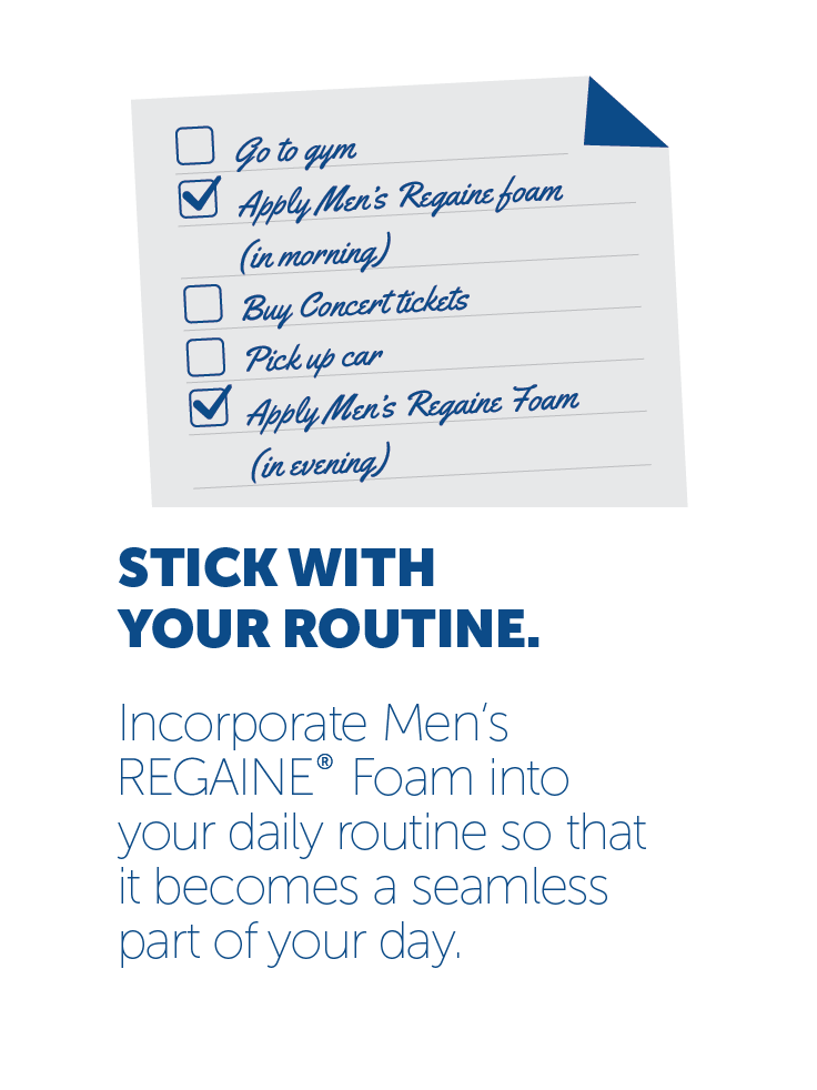stick with your routine